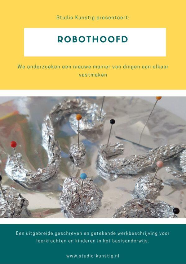 De voorpagina van de lesbrief robothoofd