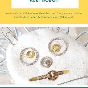De voorpagina van de lesbrief kleirobot