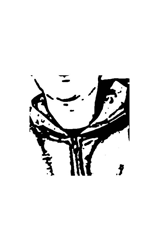 Een deel van een portret-printable