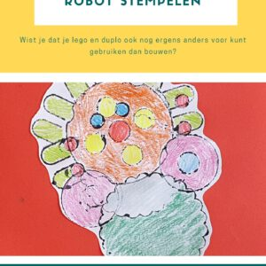 De voorpagina van de lesbrief robot stempelen