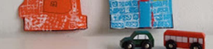 detail van gestempelde huisjes