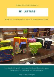 De voorpagina van de lesbrief 3D letters