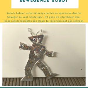De voorpagina van de lesbrief bewegende robot