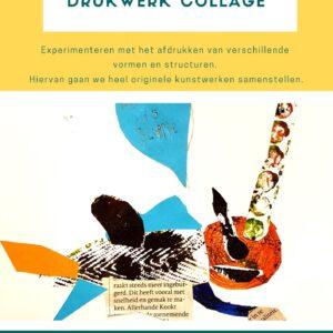 De voorpagina van de lesbrief drukwerk collage