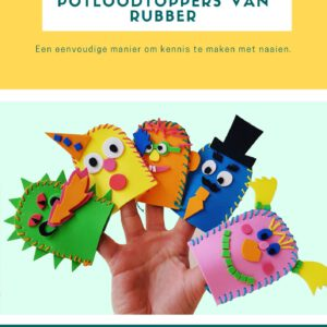 De voorpagina van de lesbrief potloodtopper van rubber