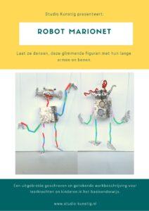 De voorpagina van de lesbrief robot marionet