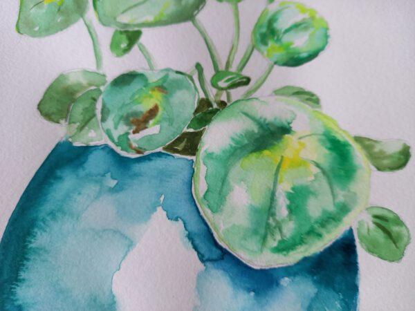 close-up van schilderij